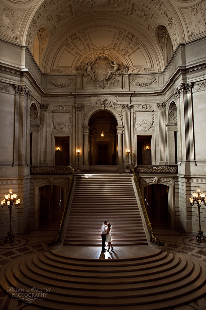 Romantic Elopement At The San Francisco Court House This