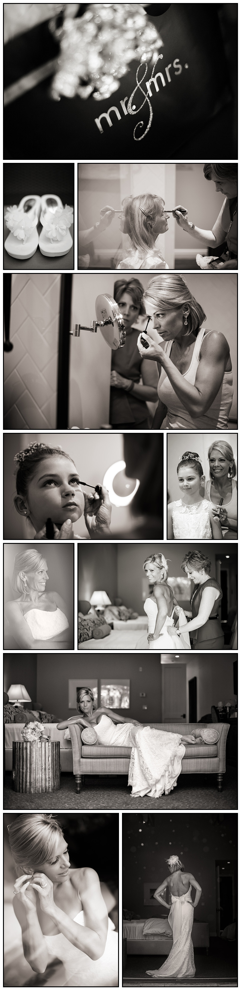 Bride Getting Ready Photos at Hotel Younville Napa Wedding