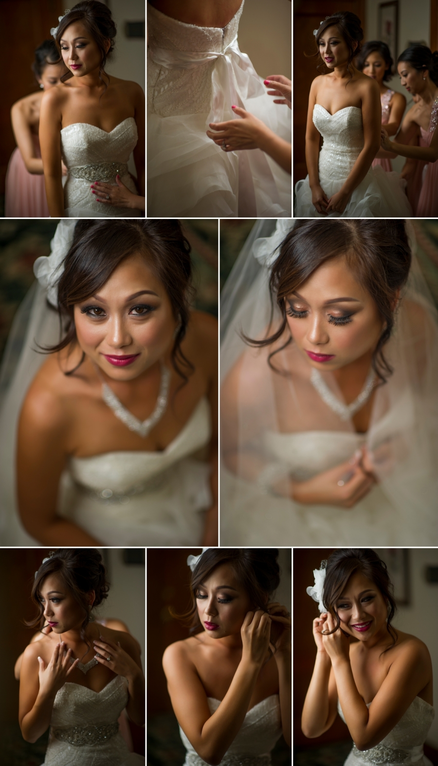 Bride Getting Ready at the Dolce Hayes Mansion in San Jose