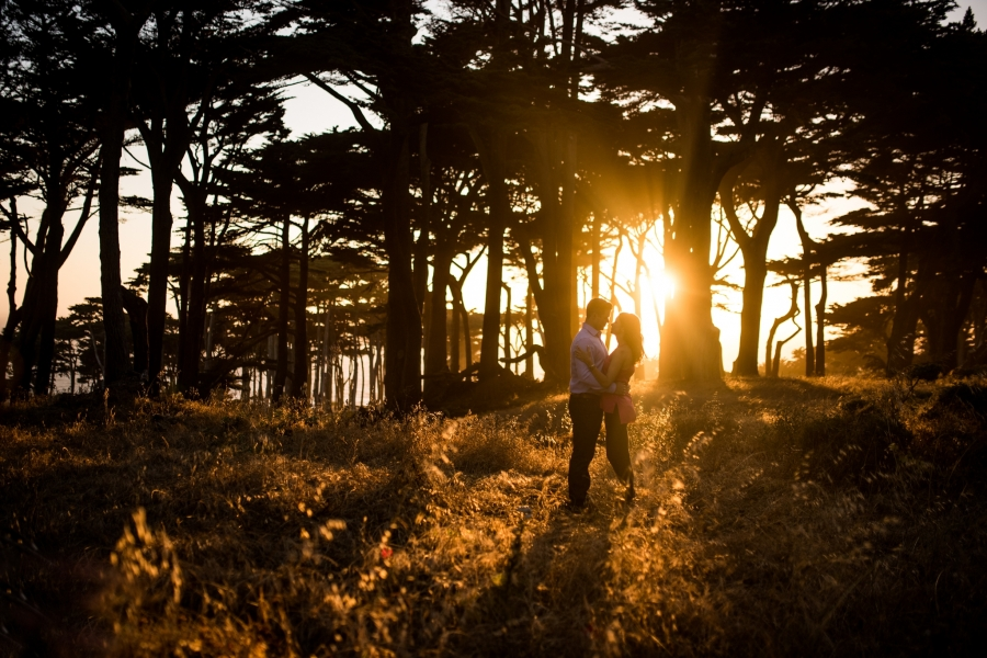 San Francisco Engagement Photos at Sutro Baths and Golden Gate Park 1